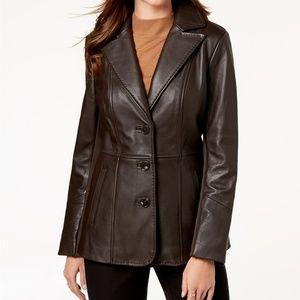 Jones New York  Walker Leather Jacket